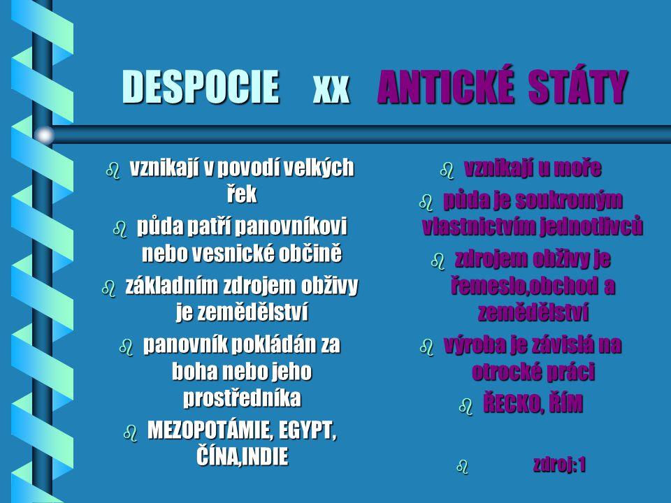 DESPOCIE xx ANTICKÉ STÁTY