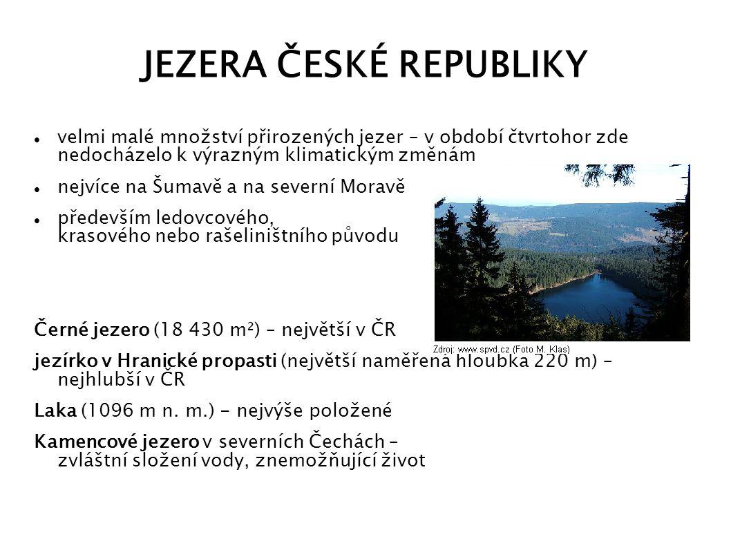 JEZERA ČESKÉ REPUBLIKY
