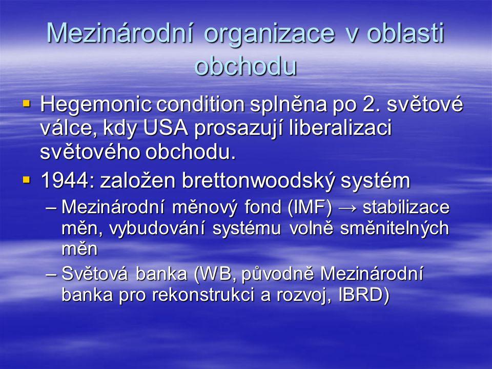 Mezinárodní organizace v oblasti obchodu
