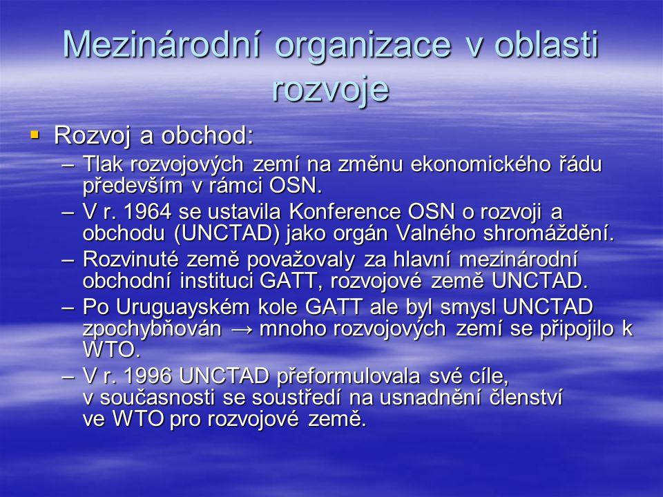 Mezinárodní organizace v oblasti rozvoje