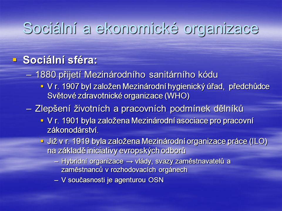 Sociální a ekonomické organizace