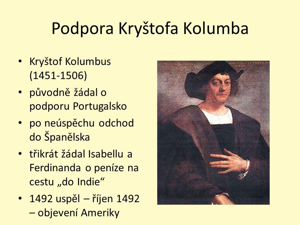 Podpora Kryštofa Kolumba
