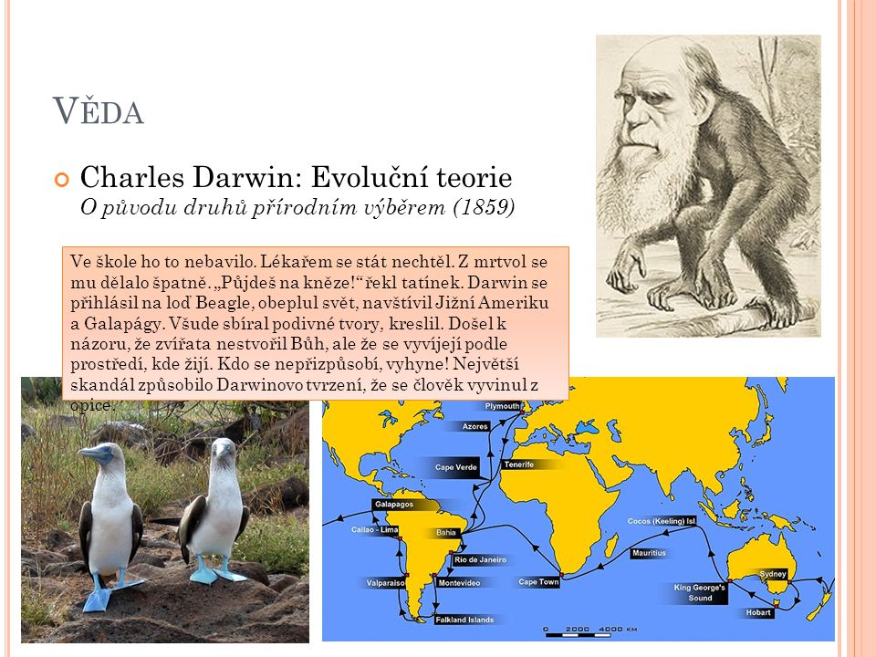 Věda Charles Darwin: Evoluční teorie O původu druhů přírodním výběrem (1859)