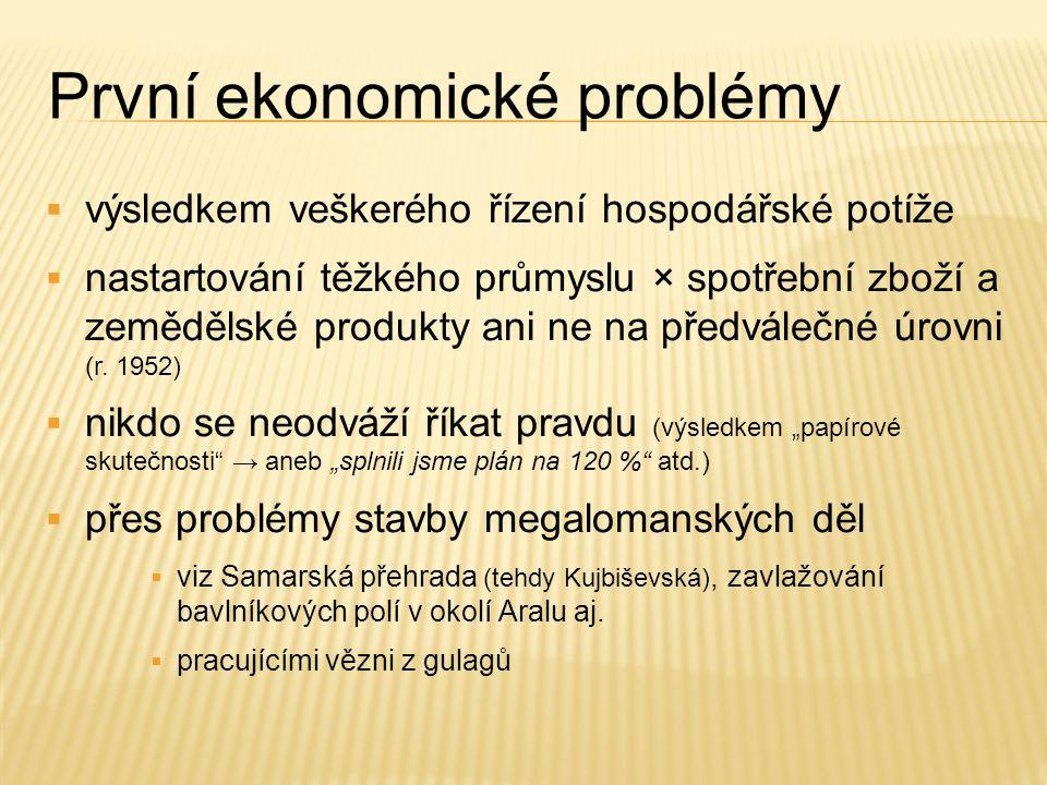 První ekonomické problémy