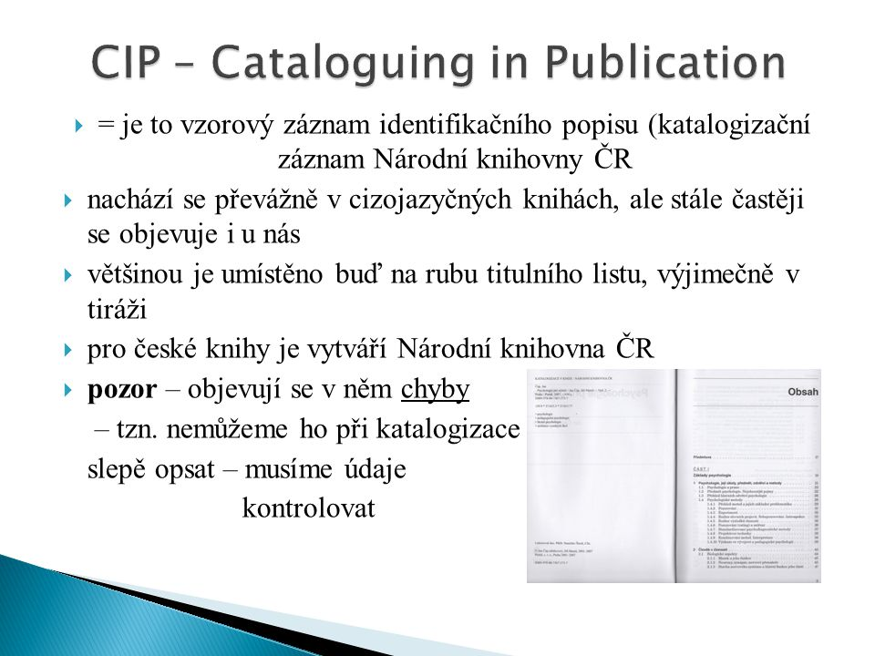 CIP – Cataloguing in Publication