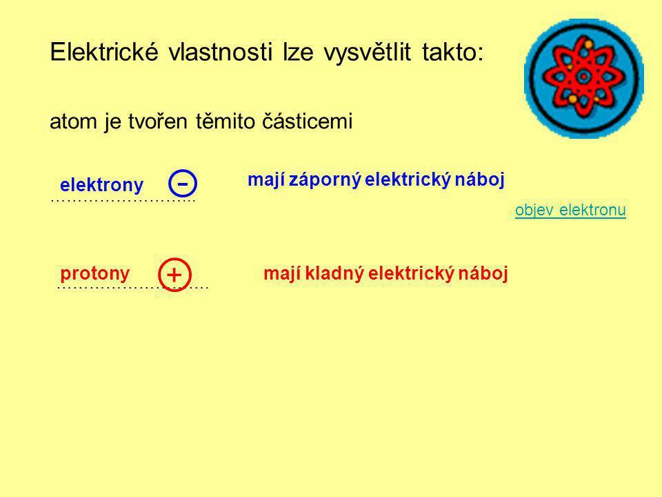 + Elektrické vlastnosti lze vysvětlit takto:
