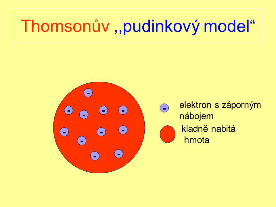 Thomsonův ,,pudinkový model