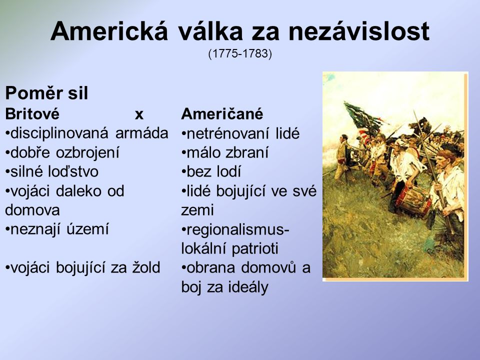Americká válka za nezávislost (1775-1783)