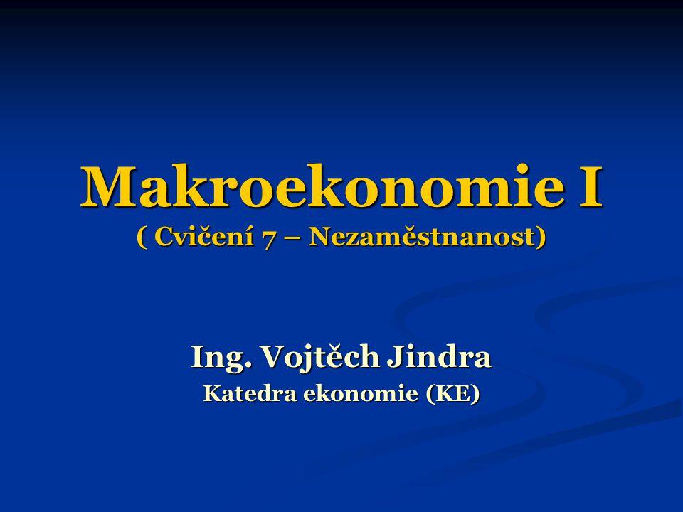 Makroekonomie I ( Cvičení 7 – Nezaměstnanost)