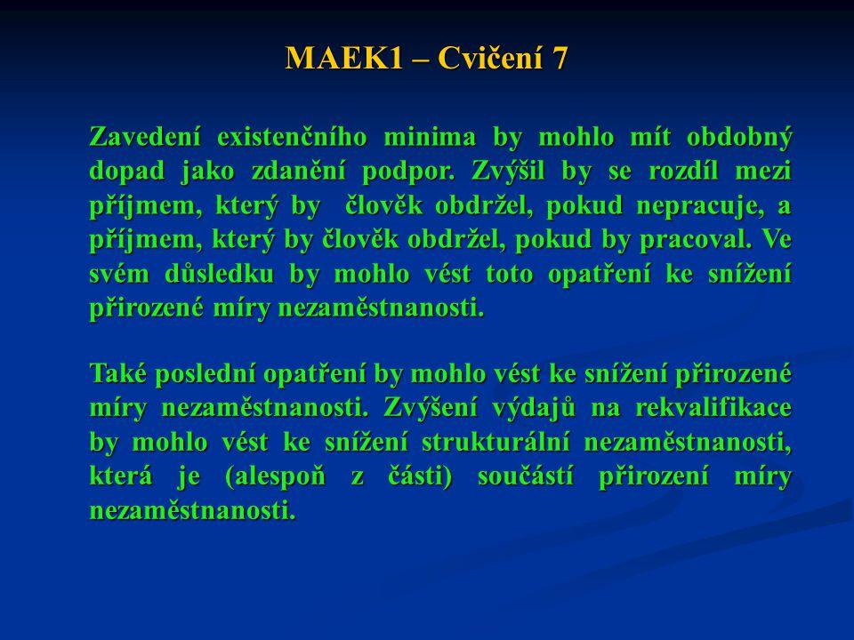 MAEK1 – Cvičení 7