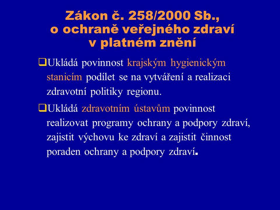Zákon č. 258/2000 Sb., o ochraně veřejného zdraví v platném znění