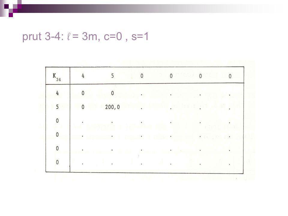 prut 3-4: l = 3m, c=0 , s=1