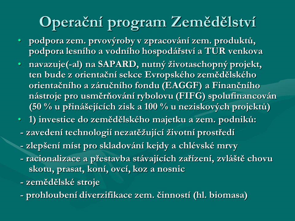 Operační program Zemědělství