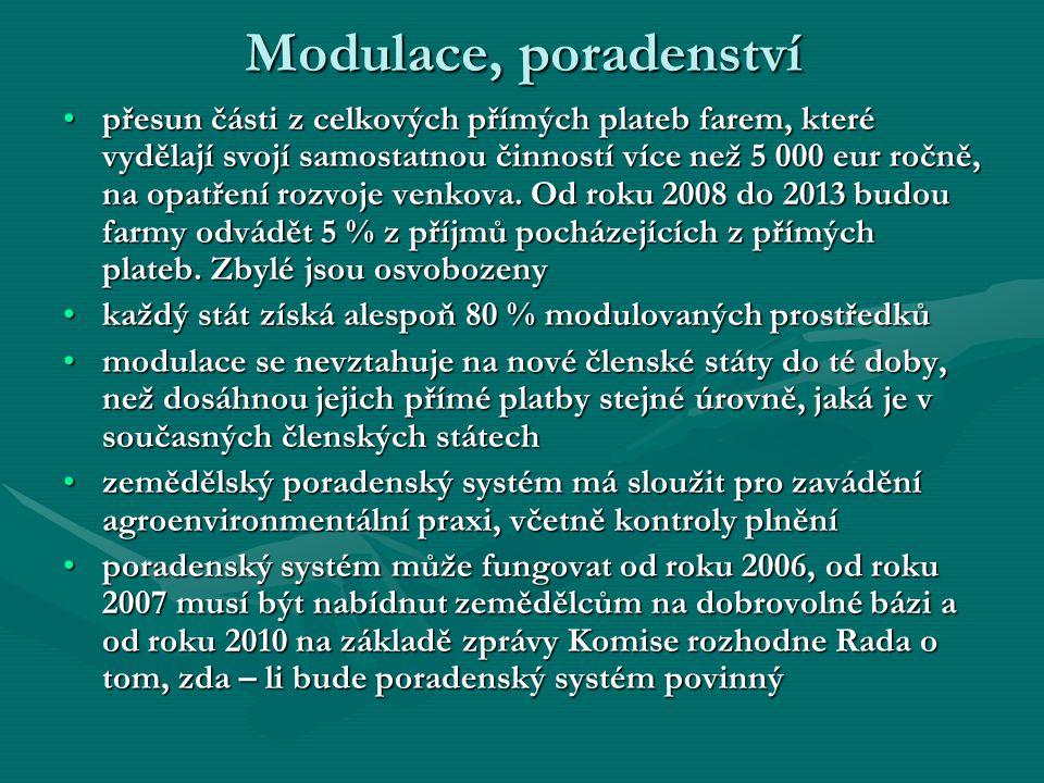 Modulace, poradenství