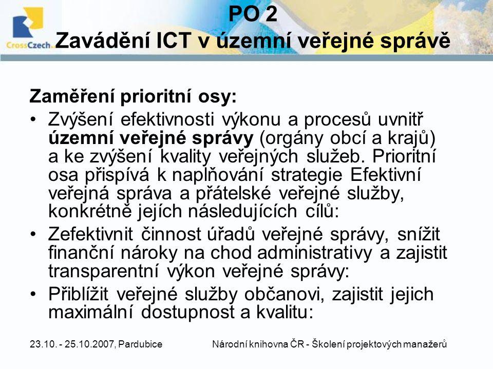 PO 2 Zavádění ICT v územní veřejné správě