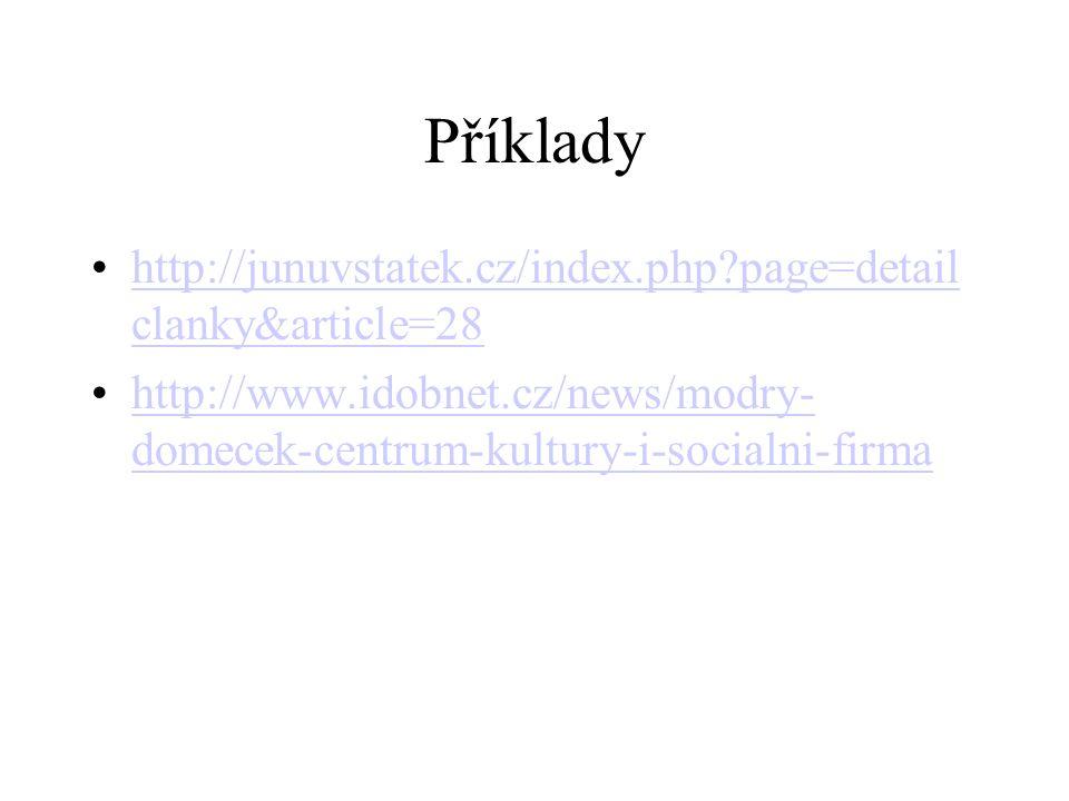 Příklady http://junuvstatek.cz/index.php page=detailclanky&article=28