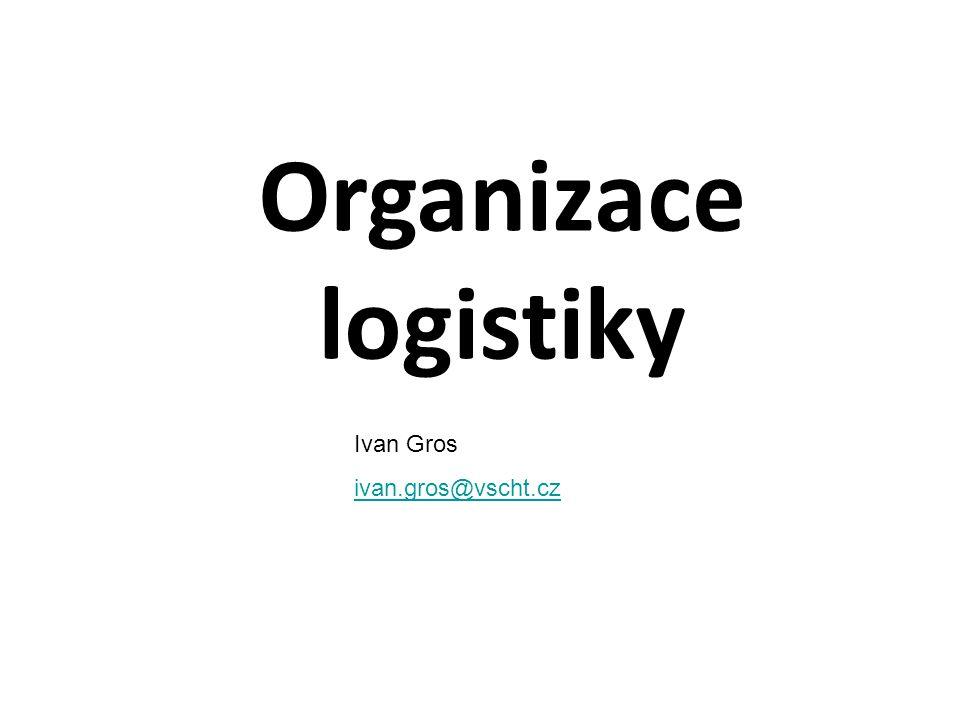 Organizace logistiky Ivan Gros ivan.gros@vscht.cz