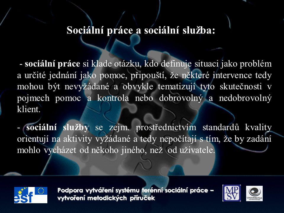 Sociální práce a sociální služba: