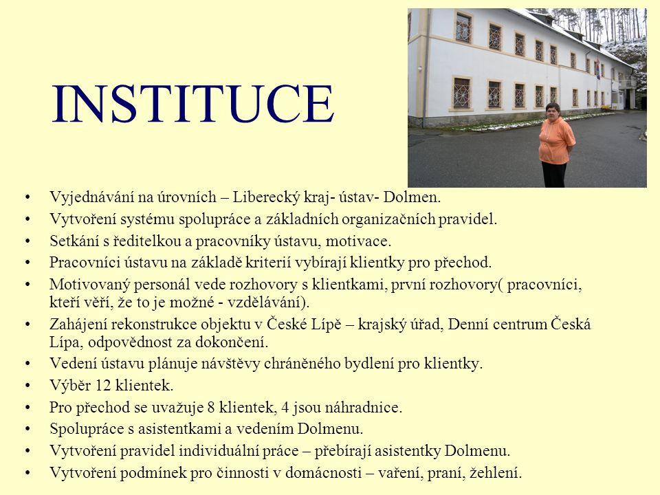 INSTITUCE Vyjednávání na úrovních – Liberecký kraj- ústav- Dolmen.