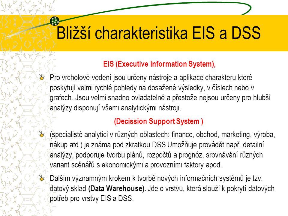 Bližší charakteristika EIS a DSS