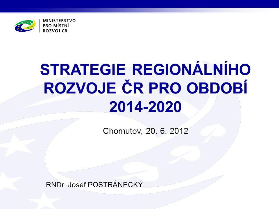 STRATEGIE REGIONÁLNÍHO ROZVOJE ČR PRO OBDOBÍ 2014-2020
