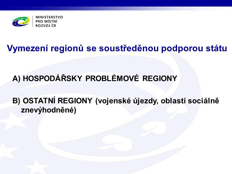 Vymezení regionů se soustředěnou podporou státu