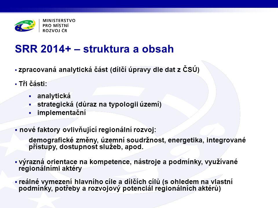 SRR 2014+ – struktura a obsah