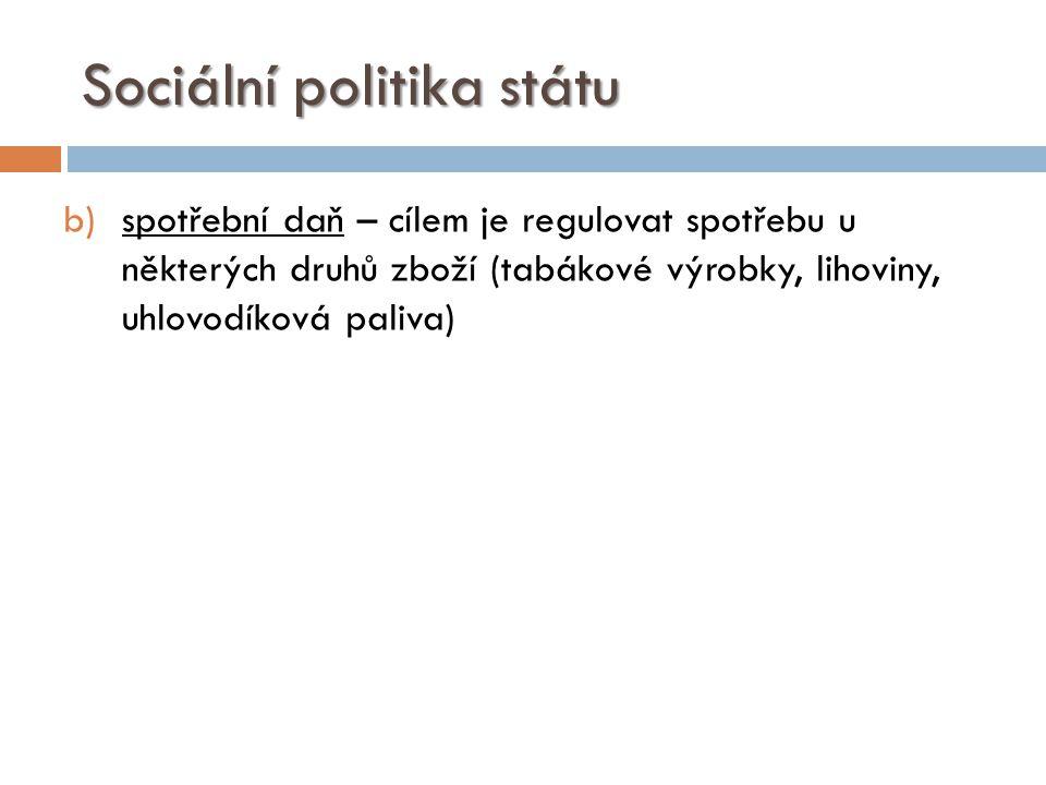 Sociální politika státu