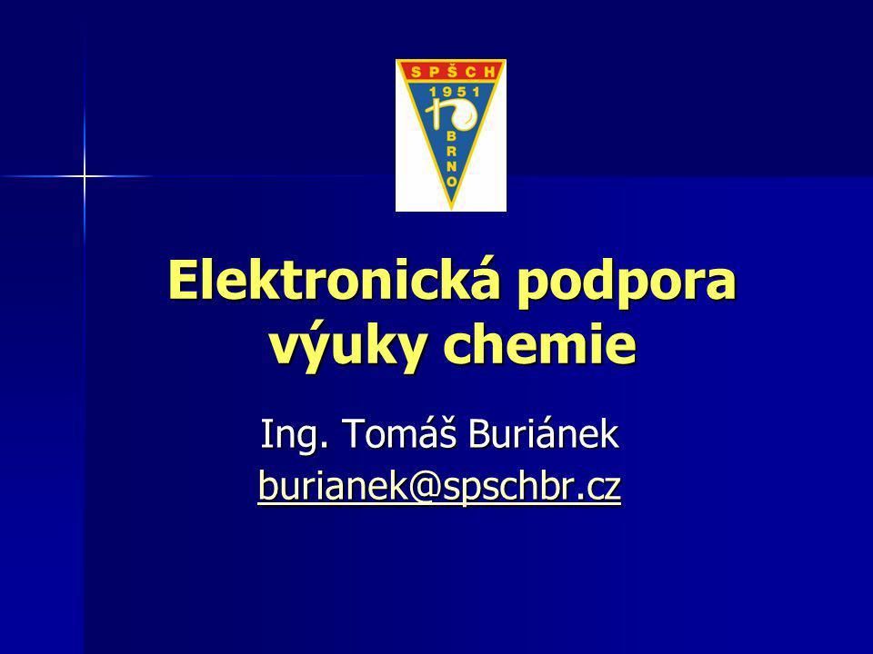 Elektronická podpora výuky chemie