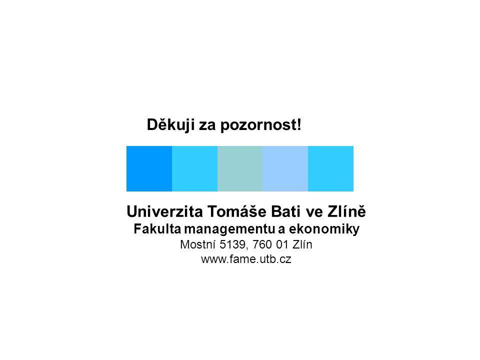 Univerzita Tomáše Bati ve Zlíně Fakulta managementu a ekonomiky