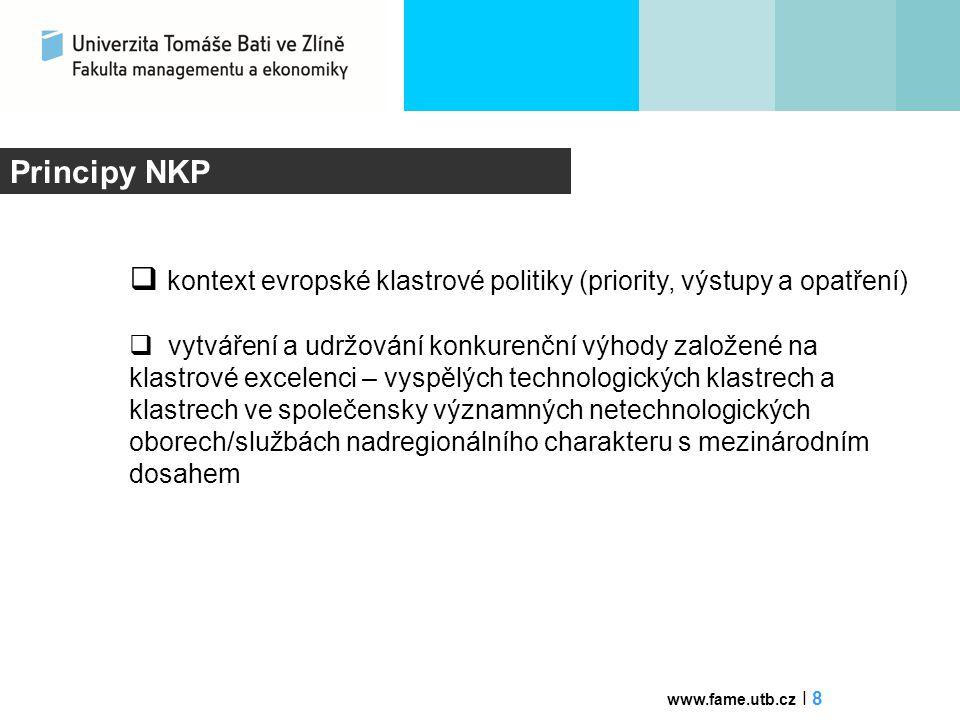 kontext evropské klastrové politiky (priority, výstupy a opatření)