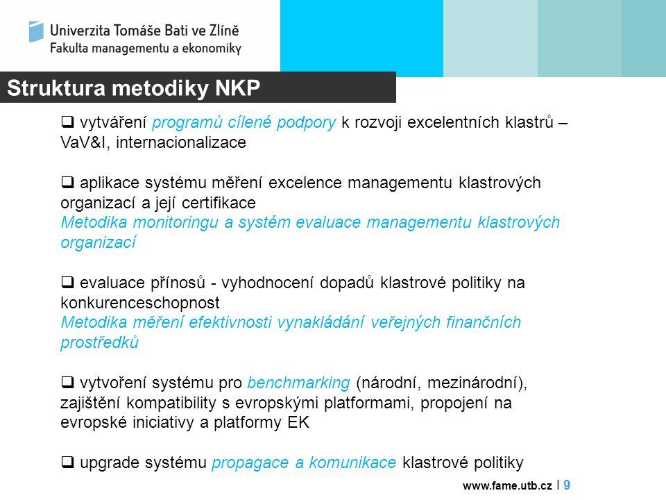 Struktura metodiky NKP