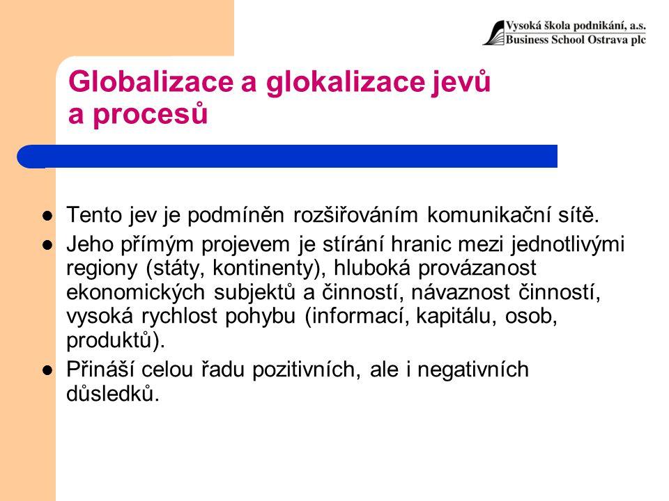 Globalizace a glokalizace jevů a procesů