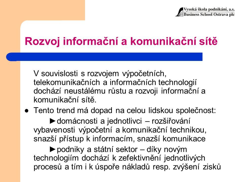 Rozvoj informační a komunikační sítě
