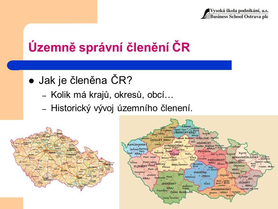 Územně správní členění ČR