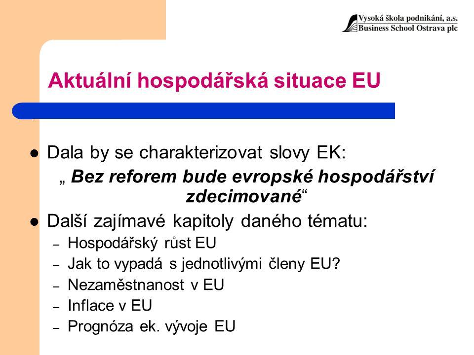 Aktuální hospodářská situace EU