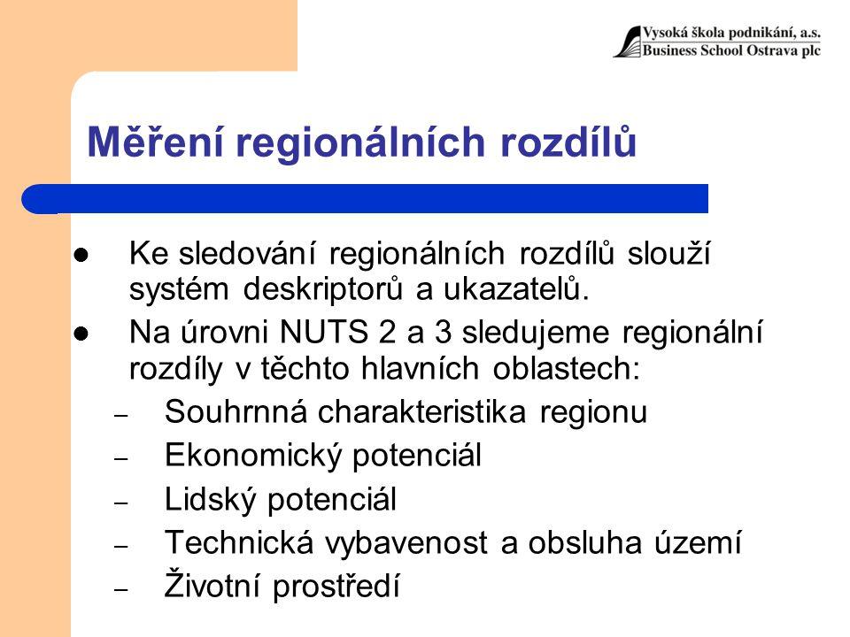 Měření regionálních rozdílů