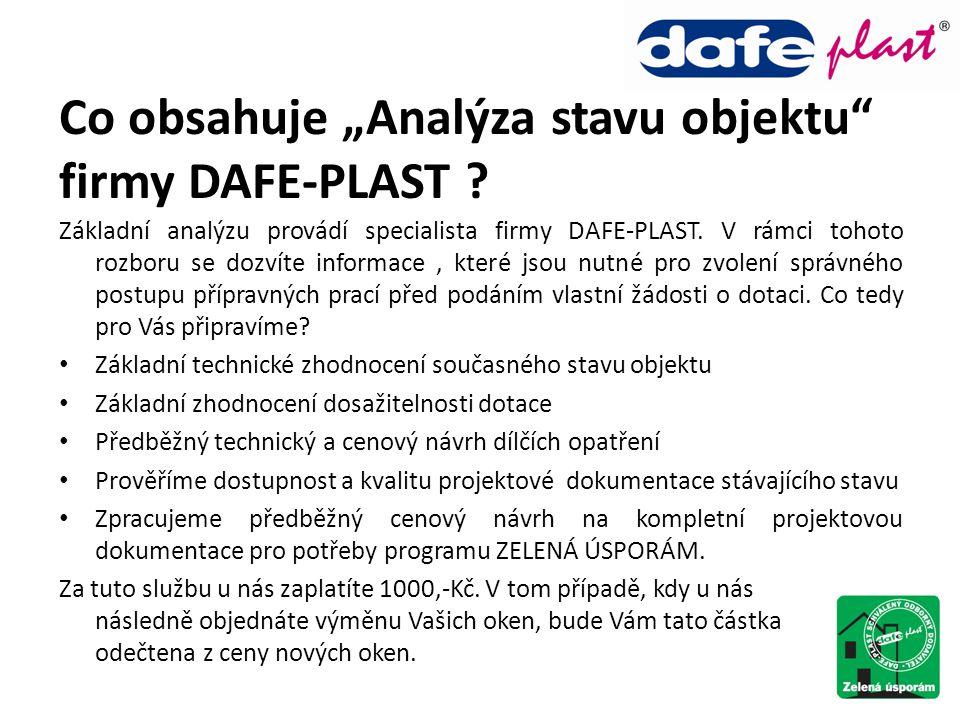 """Co obsahuje """"Analýza stavu objektu firmy DAFE-PLAST"""