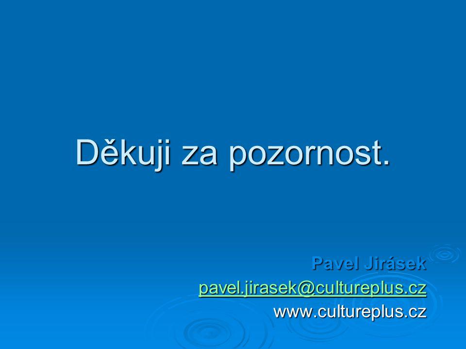 Pavel Jirásek pavel.jirasek@cultureplus.cz www.cultureplus.cz