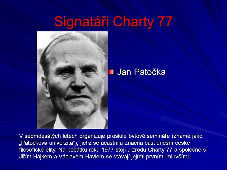 Signatáři Charty 77 Jan Patočka