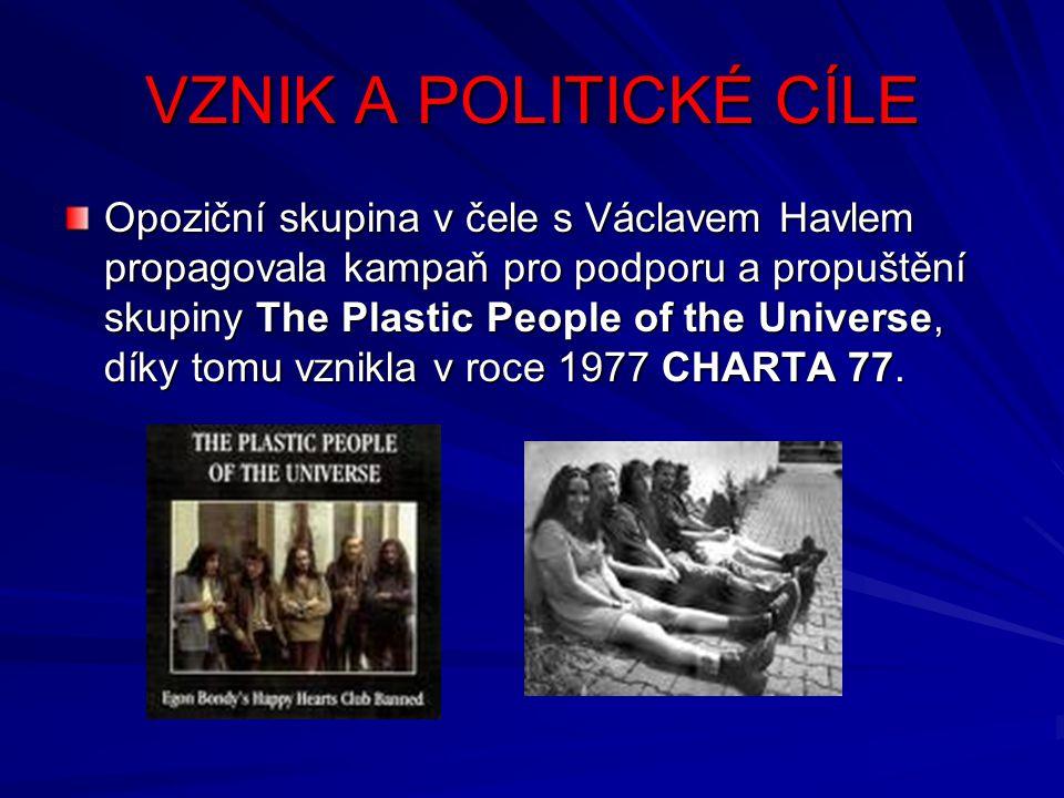 VZNIK A POLITICKÉ CÍLE
