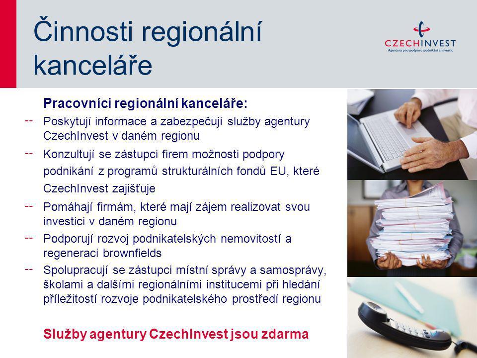 Činnosti regionální kanceláře