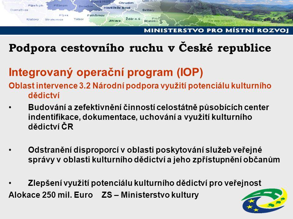 Podpora cestovního ruchu v České republice