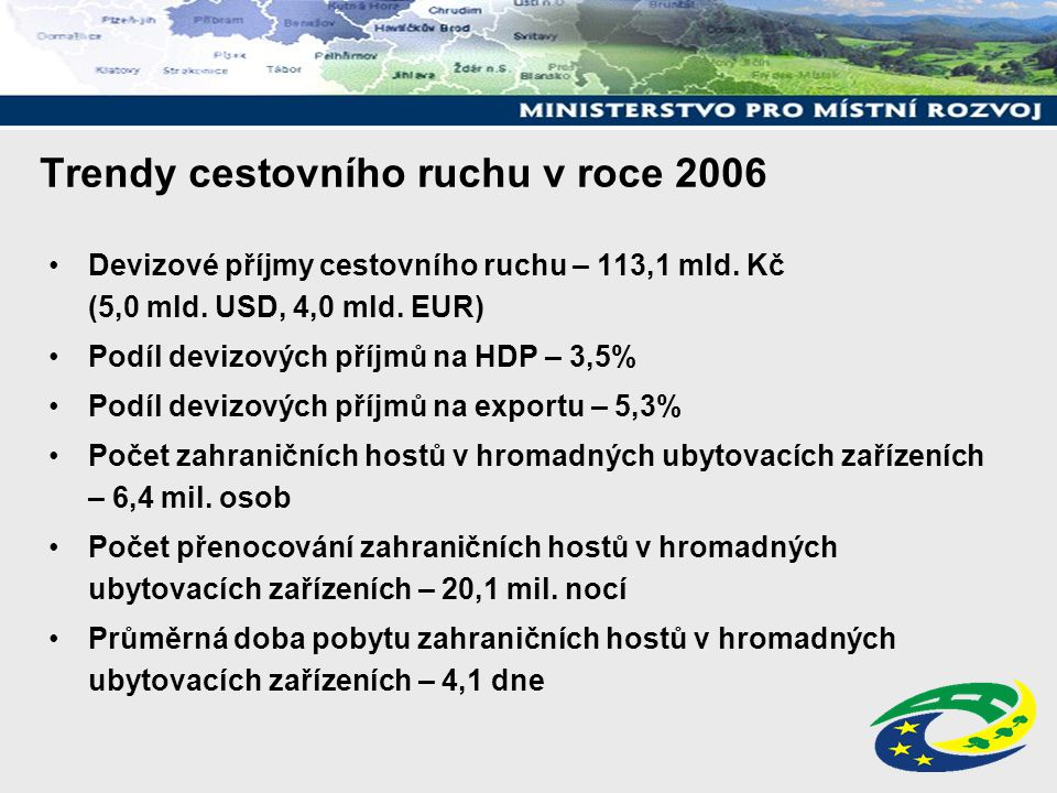 Trendy cestovního ruchu v roce 2006