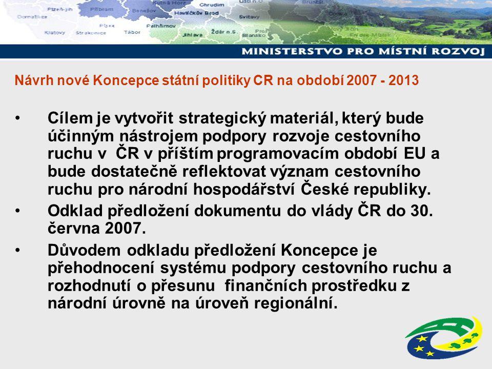 Návrh nové Koncepce státní politiky CR na období 2007 - 2013