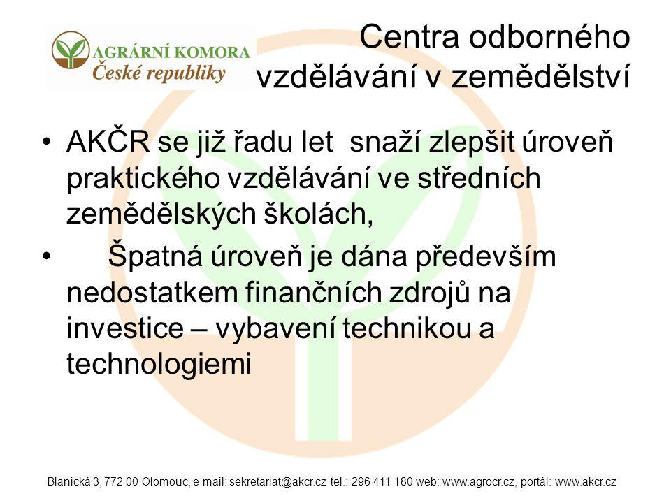 Centra odborného vzdělávání v zemědělství