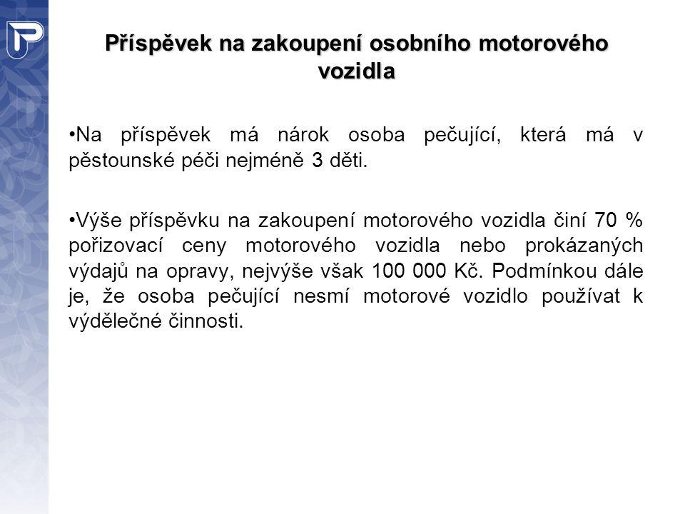 Příspěvek na zakoupení osobního motorového vozidla