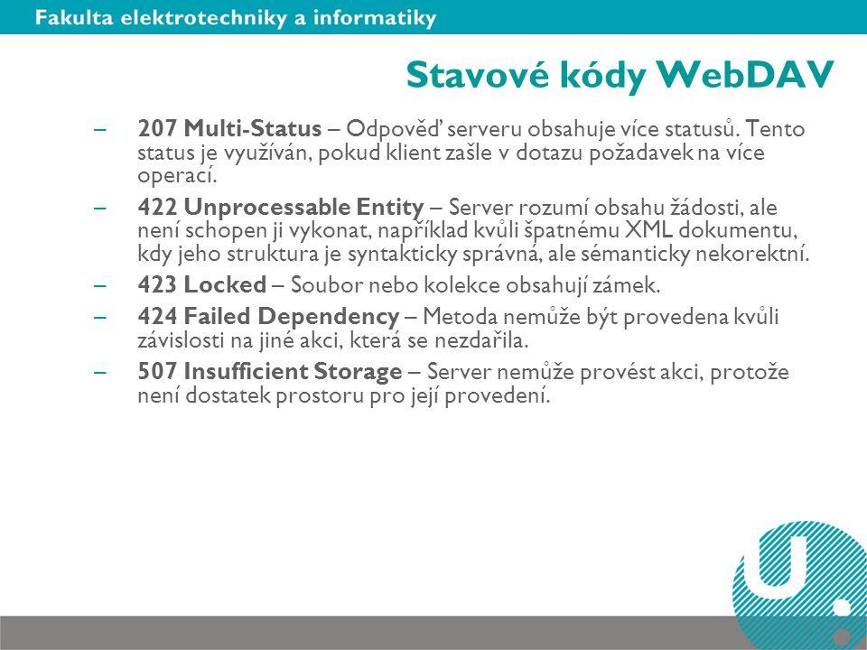 Stavové kódy WebDAV