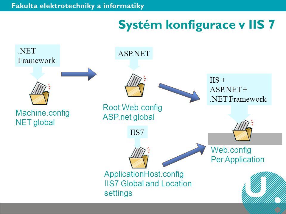 Systém konfigurace v IIS 7