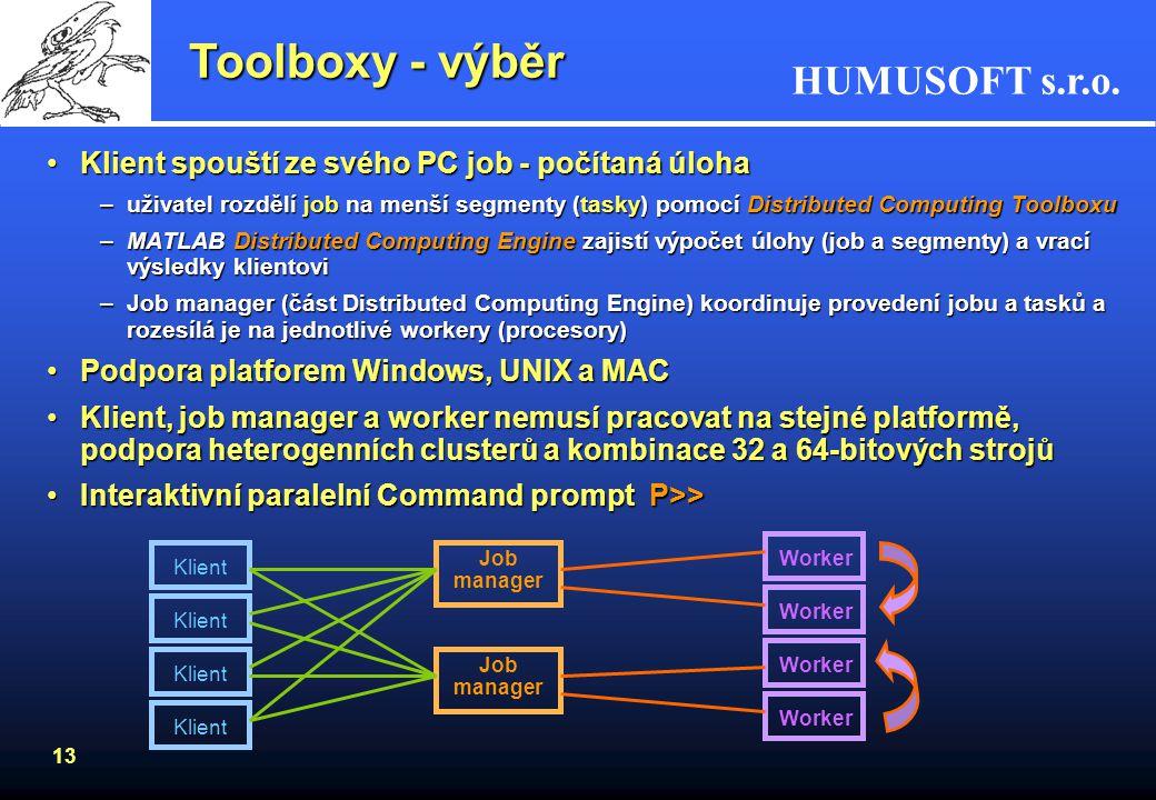 Toolboxy - výběr Klient spouští ze svého PC job - počítaná úloha